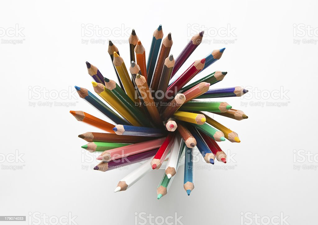 Set color pensils royalty-free stock photo