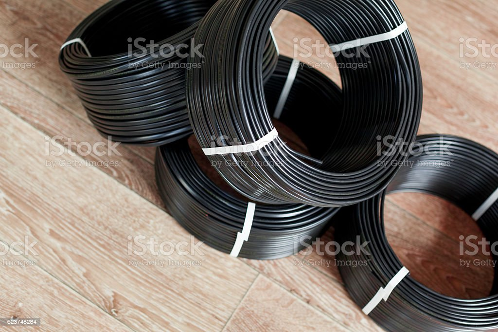 Set Colored Electric Cable Stock Photo & More Pictures of Business ...