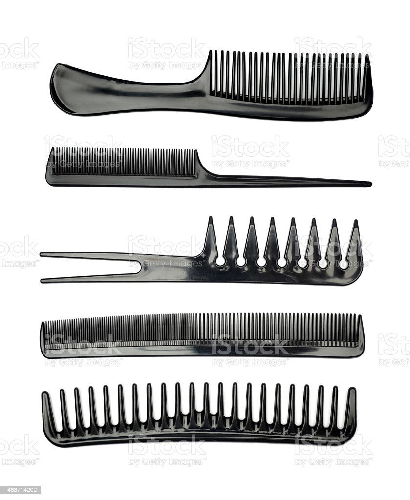 Set combs stock photo