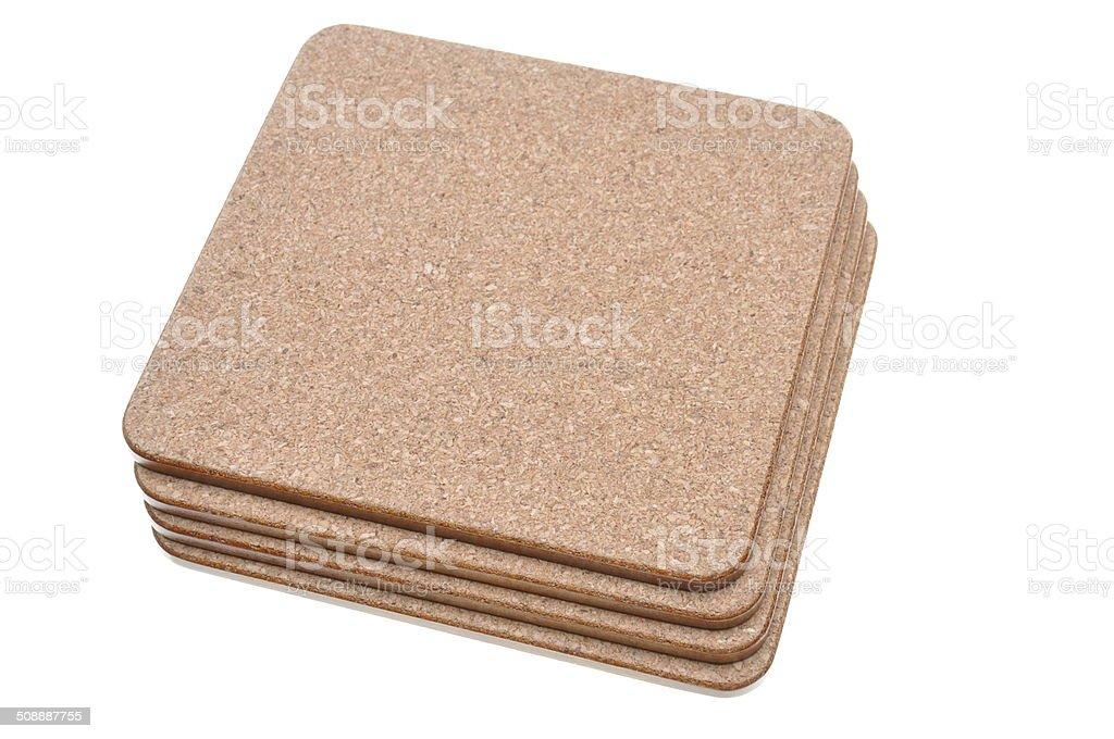 Set cork mat stock photo