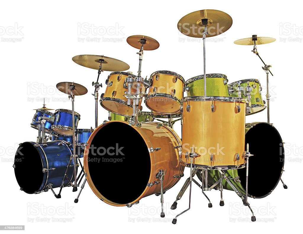 Set drums stock photo