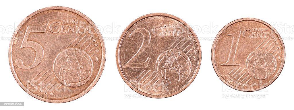 Set euro cents stock photo