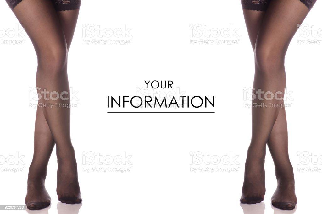Inmitten eines weiblichen Beine Füße Strümpfe kapronowyj Strumpfhosen verschiedene Seiten Vorlage – Foto