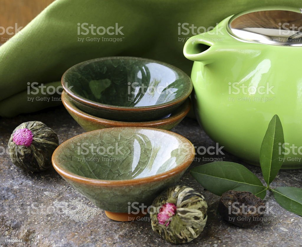 set for a traditional tea drinking royalty-free stock photo