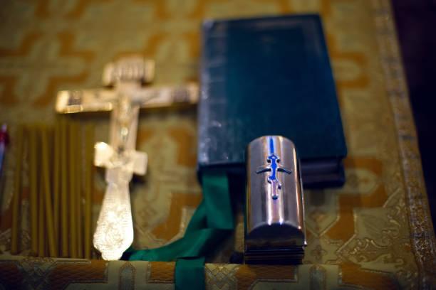 在教堂裡設置為一個孩子的洗禮 - 大比大 聖經人物 個照片及圖片檔