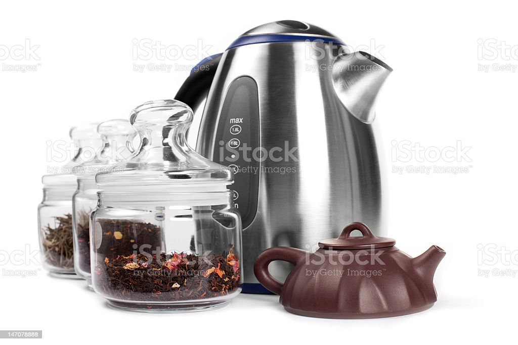 Set for drinking tea royalty-free stock photo