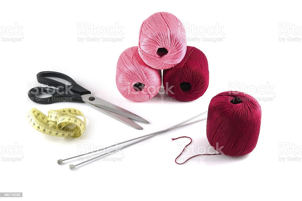 Set for knitting royalty-free stock photo