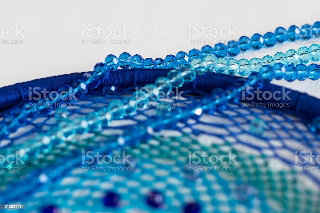 set for making a Dreamcatcher, beads stock photo
