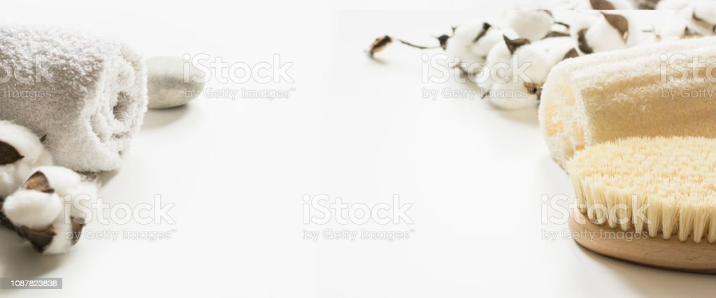 Set for spa and cellulite removal on white background. Anti-cellulite. Anticellulite. Wellness. - foto stock