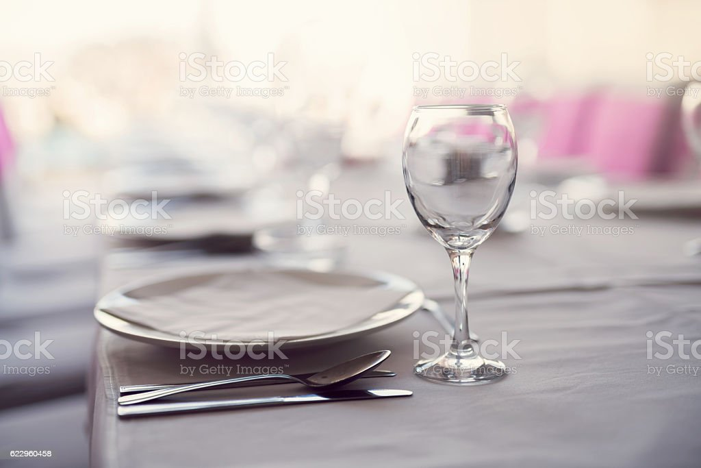 Set for special dinner stock photo
