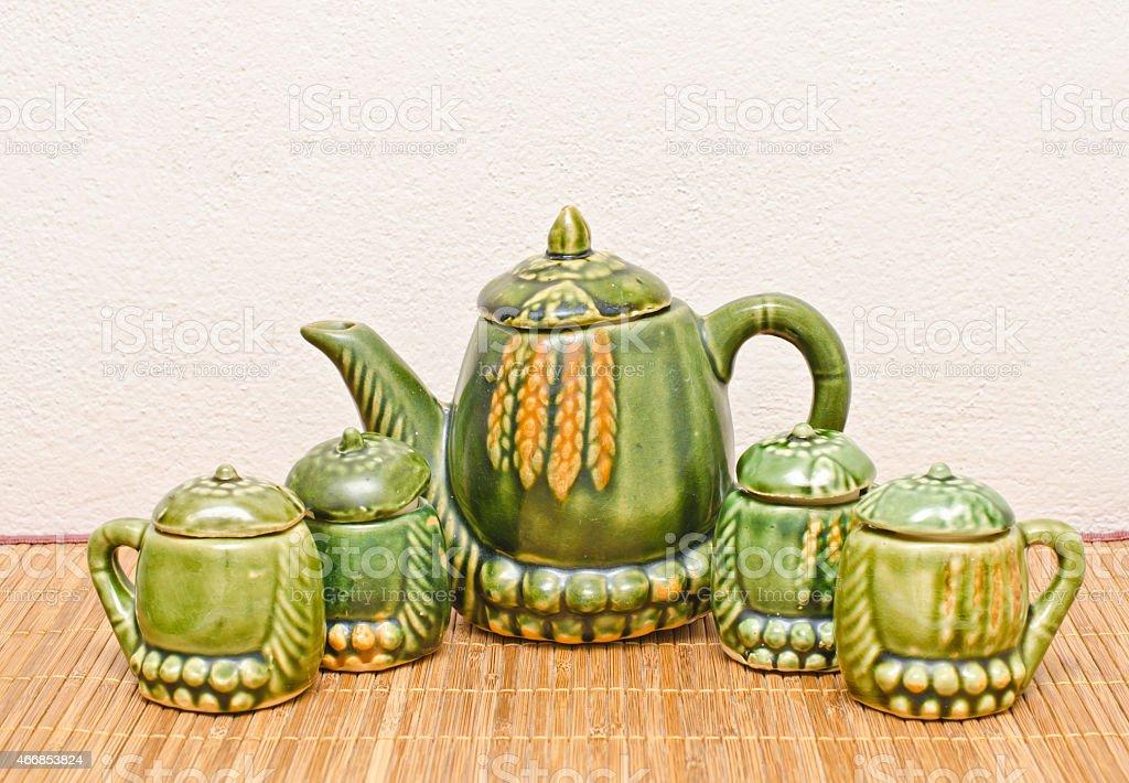 Set for tea. stock photo