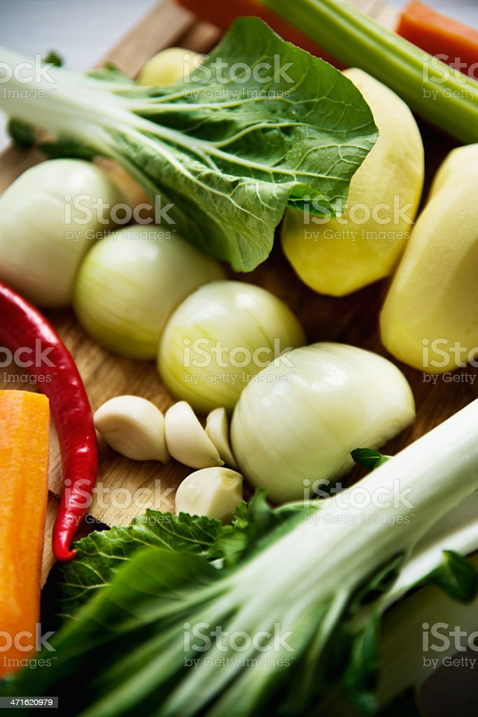 Set for vegetable soup stock photo