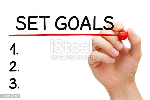 istock Set Goals List Concept 646231062
