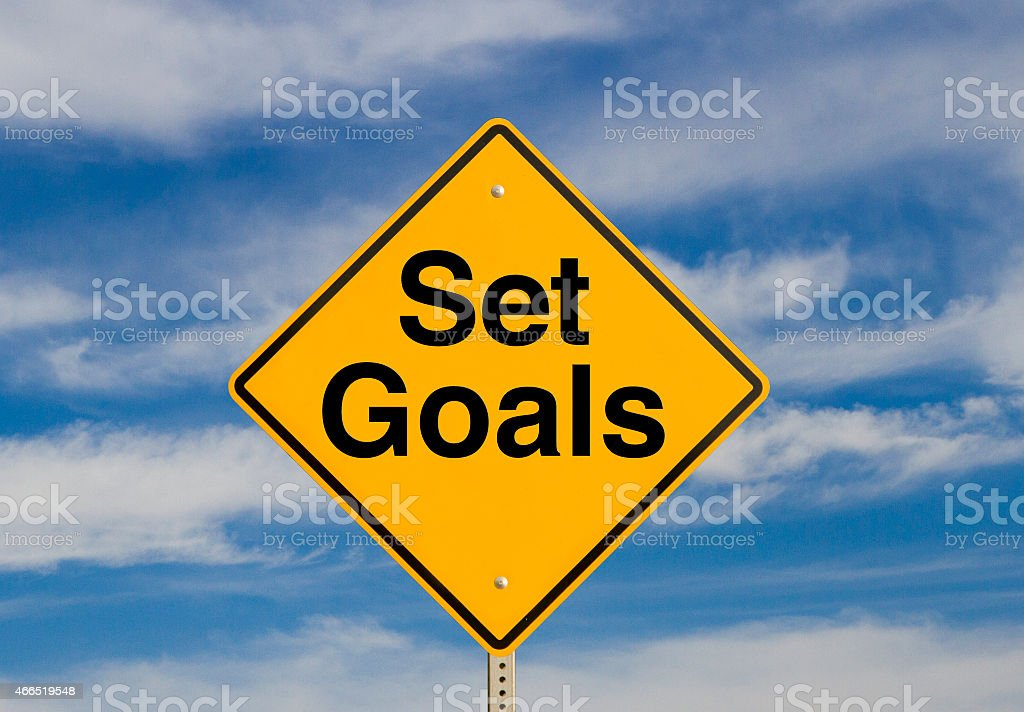 Set Goals stock photo
