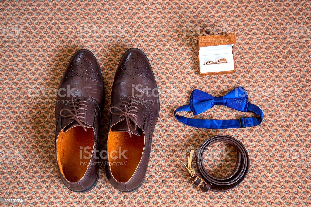 Set groom Butterfly shoes Belts Cufflinks Watches Men\'s Accessories....