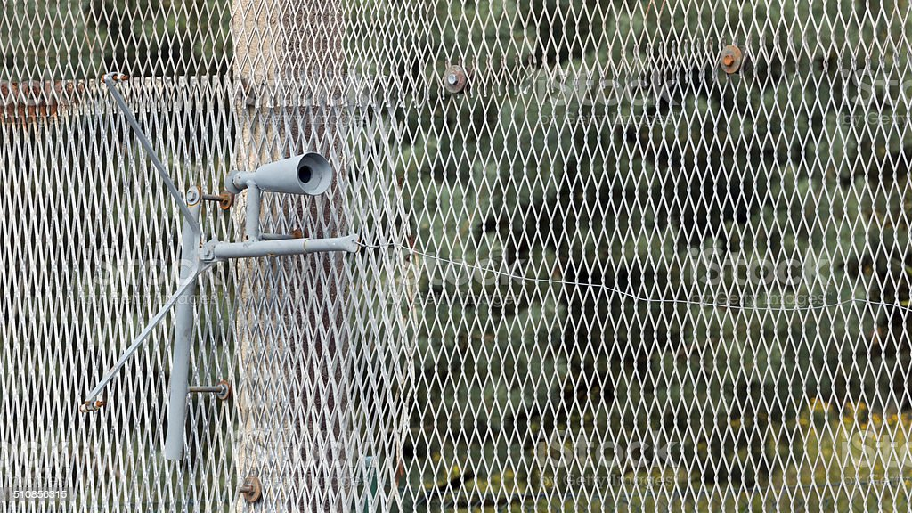 Set Gun at the former inner German border - Royalty-free Barbed Wire Stock Photo