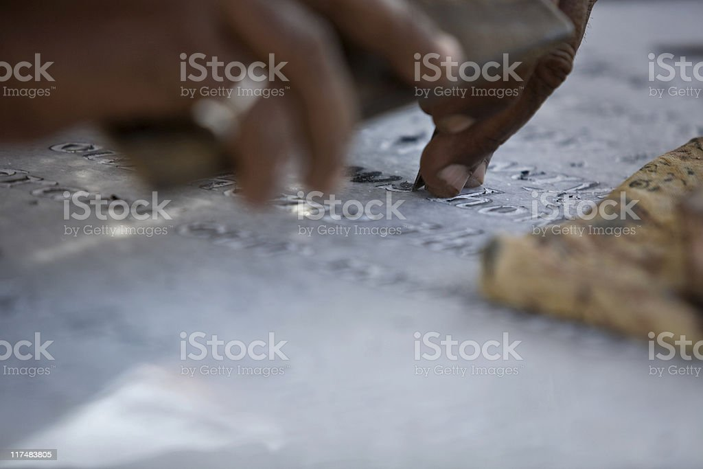 Set in Stone stock photo