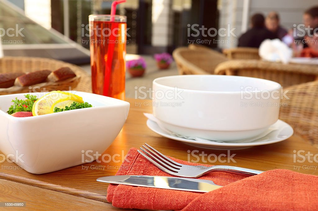 Set lunch. stock photo
