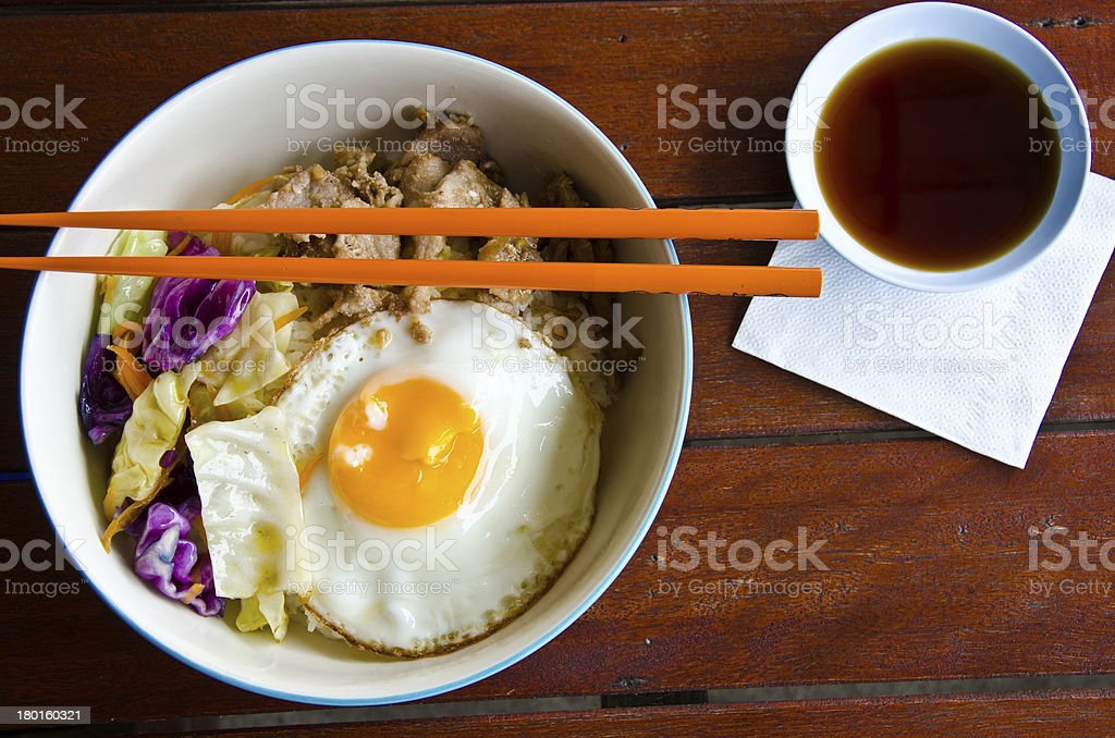 set lunch stock photo