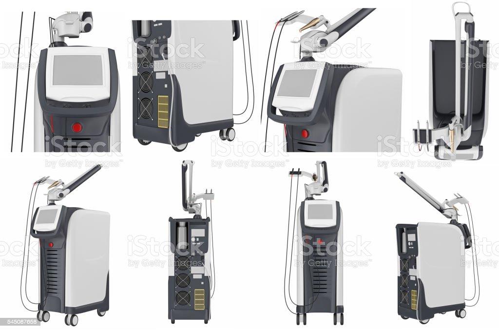Set medical laser device stock photo