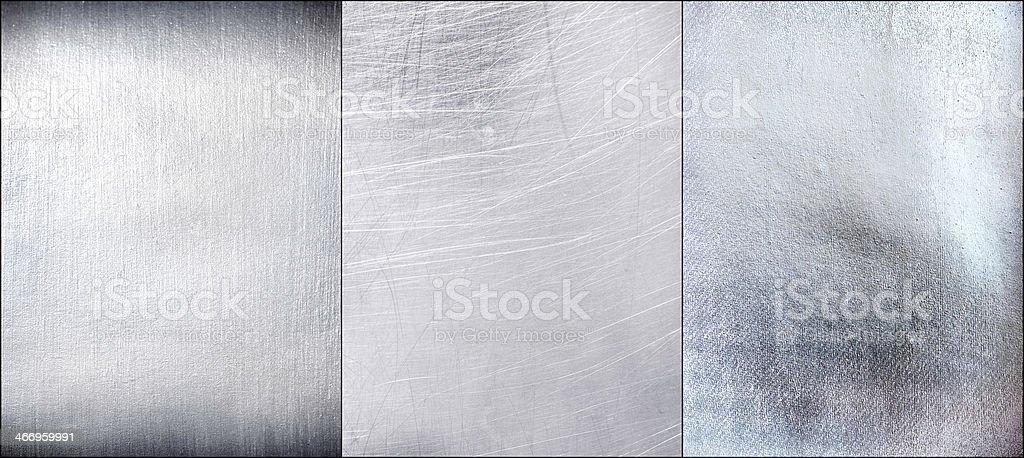 Set metal plate steel background. stock photo