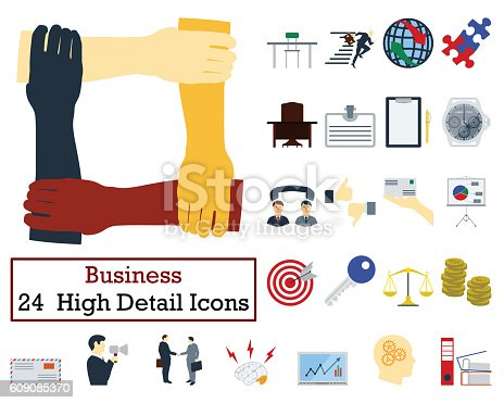 istock Set of 24 Business Icons 609085370