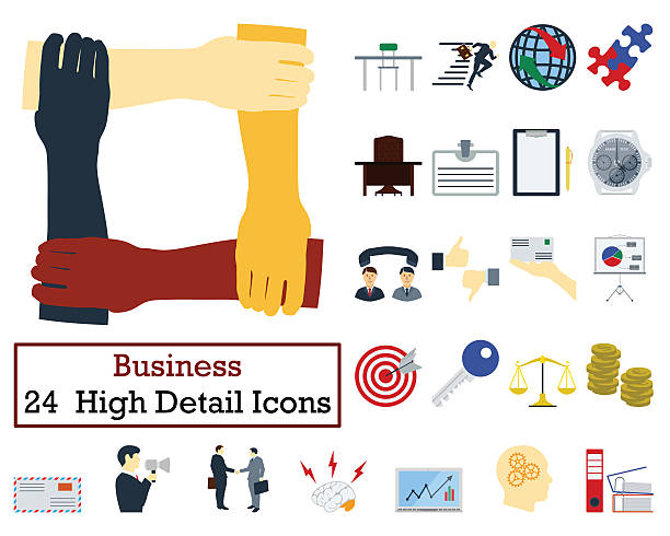 Set of 24 Business Icons stock photo