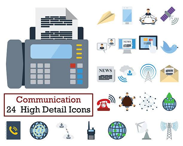 Set of 24 Communication Icons 스톡 사진
