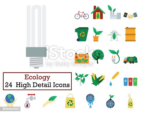 istock Set of 24 Ecology Icons 609085532