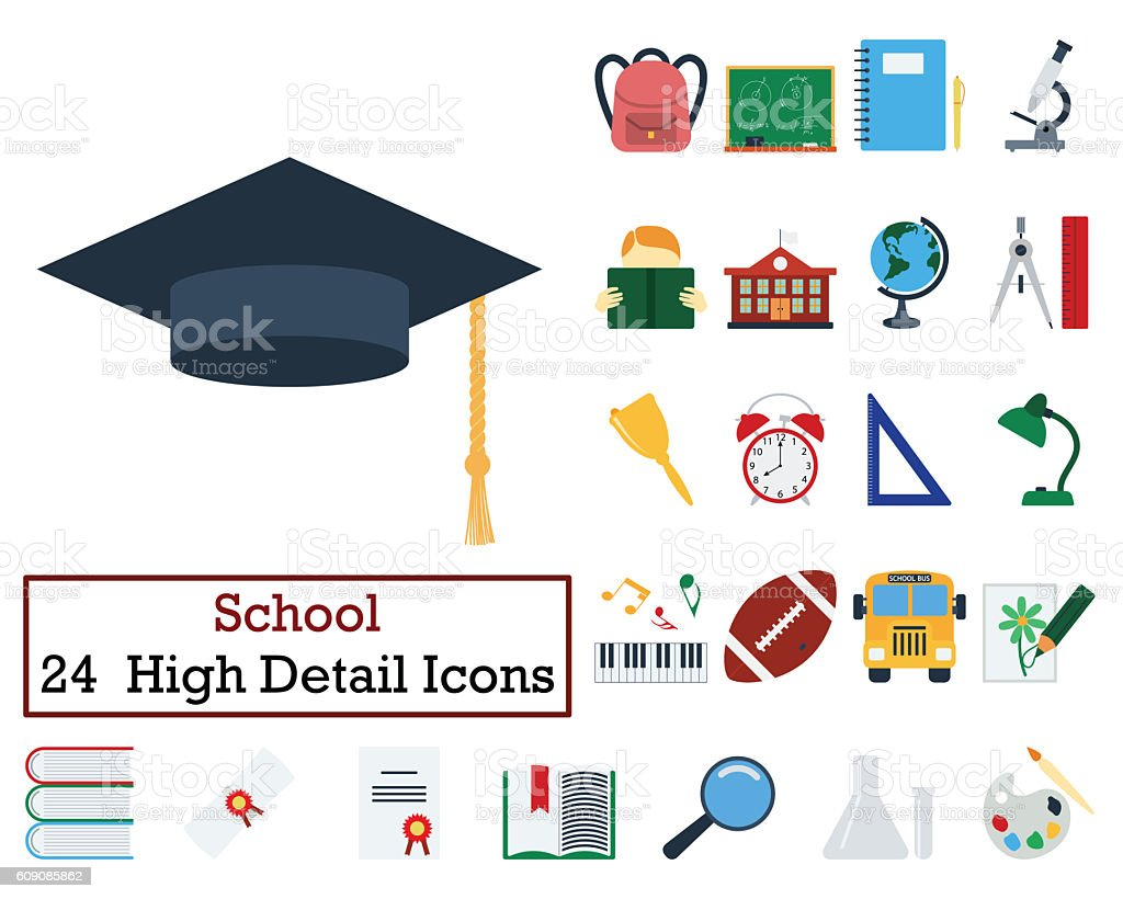 Set of 24 Education Icons stock photo