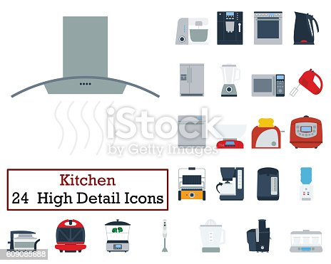istock Set of 24 Kitchen Icons 609085688