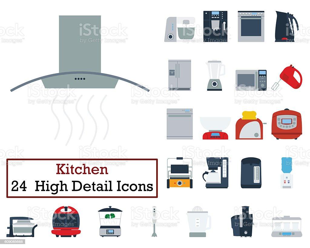 Set of 24 Kitchen Icons stock photo