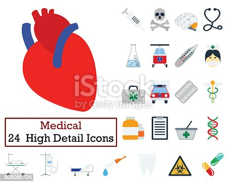 istock Set of 24 Medical icons 609085704