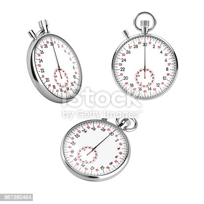 istock Set of 3 mechanical stopwatch chronometers 861380464
