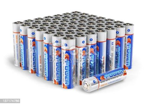 istock Set of AA size batteries 137174786
