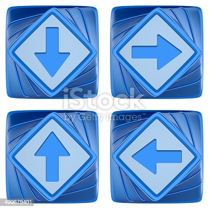 istock Set of abstract 3d icons. 499679401