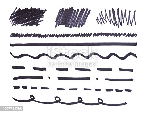 istock set of abstract hand-painted marker 1097744298