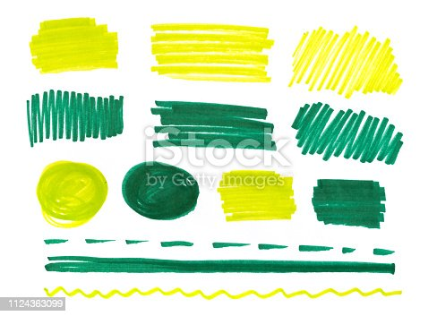 istock set of abstract hand-painted marker 1124363099