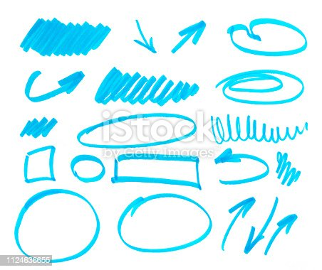 istock set of abstract hand-painted marker 1124636655
