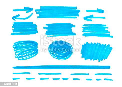 istock set of abstract hand-painted marker 1126067148