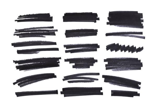 reihe von abstrakten handbemalte marker - scribble stock-fotos und bilder
