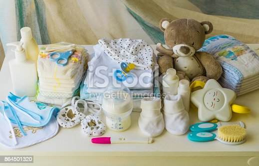 set of accessories for baby, newborn items