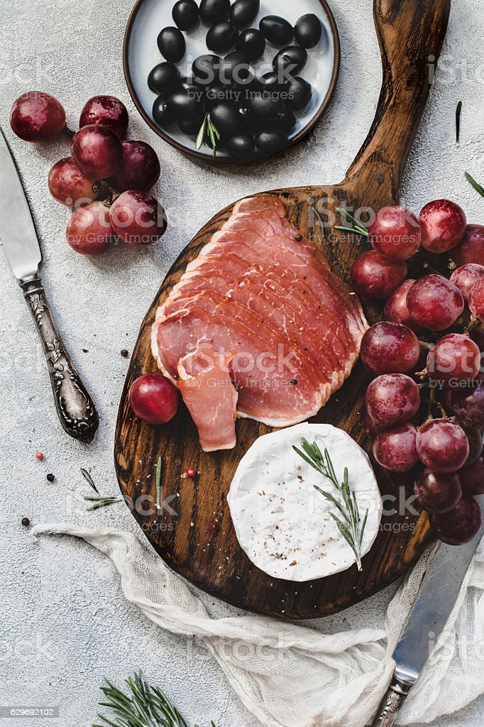 Set of appetizers stock photo