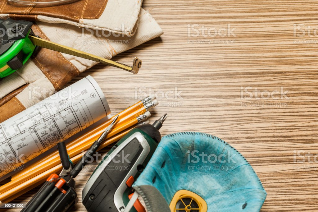 Set of architect tools zbiór zdjęć royalty-free