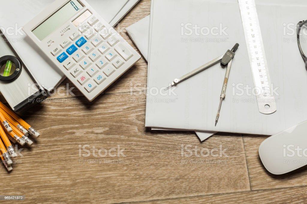 架構工具集 - 免版稅一組物體圖庫照片