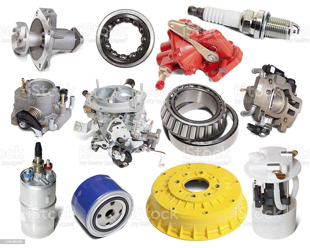 Set of auto parts royalty-free stock photo