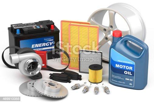 istock Set of auto parts 469910055