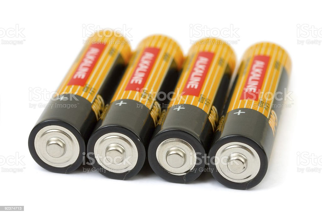 Set of batteries royalty-free stock photo