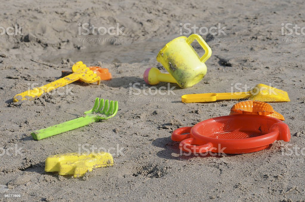 set of beach toys royalty-free stock photo