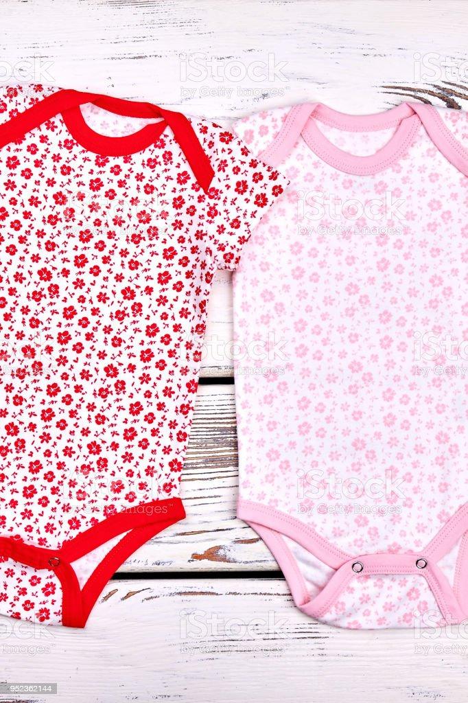 3c4b6c632 Set Of Beautiful Bodysuit For Newborn Girls Stock Photo   More ...